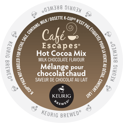 CAFÉ ESCAPES – Hot Cocoa Mix Milk Chocolate Flavoured