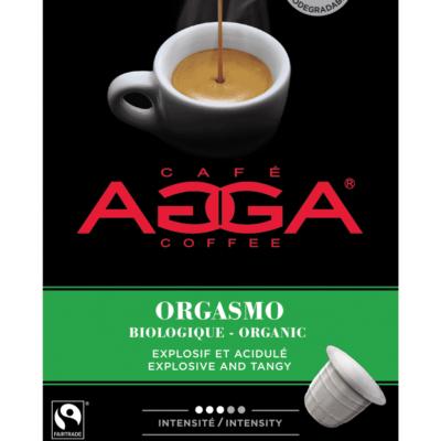 Café AGGA ESPRESSO ORGASMO BIOLOGIQUE 1 X 10 Capsules
