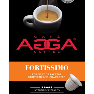 Café AGGA ESPRESSO FORTISSIMO 1 X 10 Capsules